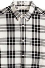 Checked cotton shirt - Natural white/Black - Men | H&M 3