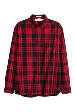 Checked cotton shirt - Red/Black - Men | H&M 2