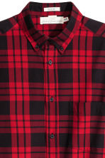 Checked cotton shirt - Red/Black - Men | H&M 3