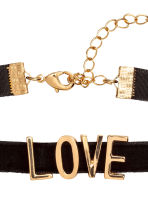 Velvet choker - Gold/Love - Ladies | H&M 2
