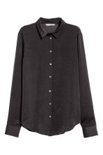 Long-sleeved blouse - Dark grey - Ladies | H&M 2