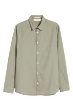 Pima cotton shirt - Light khaki green - Men | H&M CN 2