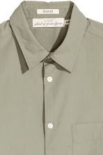 Pima cotton shirt - Light khaki green - Men | H&M CN 3
