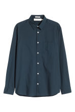 Camicia in cotone pima - Blu scuro - UOMO | H&M IT 2