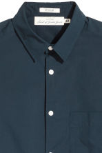 Pima cotton shirt - Dark blue - Men | H&M CN 3