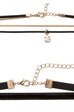 2-pack chokers - Black - Ladies | H&M 2
