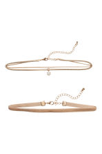2-pack chokers - Beige - Ladies | H&M 1