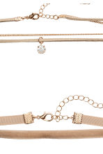 2-pack chokers - Beige - Ladies | H&M 2
