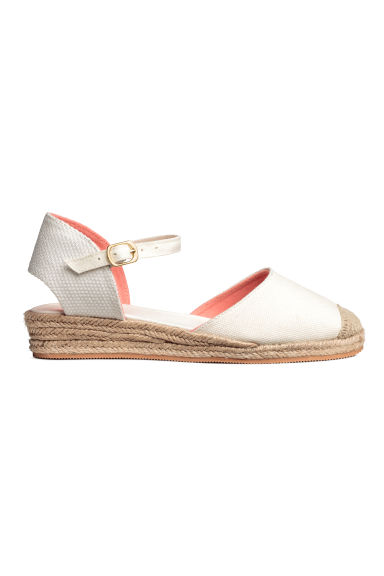 Canvas espadrilles - Natural white -  | H&M CA 1