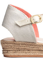 Canvas espadrilles - Natural white -  | H&M CA 3