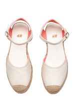 Canvas espadrilles - Natural white -  | H&M CA 2
