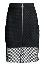 Gonna in mesh - Nero - DONNA | H&M IT 2