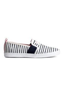 Striped slip-on trainers