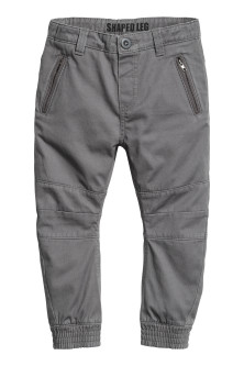 Joggers in twill