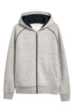 Hooded jacket - Grey marl - Men | H&M 1