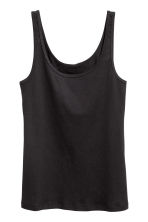 Jersey vest top - Black -  | H&M CN 2