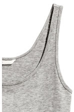 Jersey vest top - Grey marl - Ladies | H&M 3