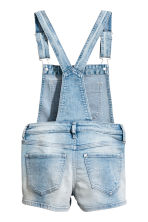Denim dungaree shorts - Light denim blue - Kids | H&M 3