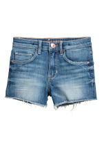 Denim shorts High waist - Denim blue - Kids | H&M 2