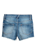 Denim shorts High waist - Denim blue -  | H&M CN 3