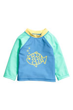 Swim set with UPF 50 - Blue/Fish - Kids | H&M CN 2