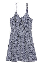 Tie-detail dress - Dark blue/Patterned - Ladies | H&M CN 2