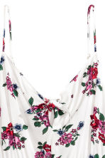 Tie-detail dress - Natural white/Floral -  | H&M GB 3