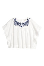 Embroidered blouse - White - Kids | H&M 2