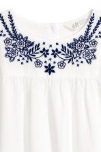 Embroidered blouse - White - Kids | H&M 3