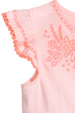 Dress with butterfly sleeves - Light pink -  | H&M 4