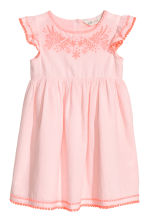 Dress with butterfly sleeves - Light pink -  | H&M 2