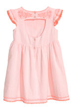 Dress with butterfly sleeves - Light pink -  | H&M 3