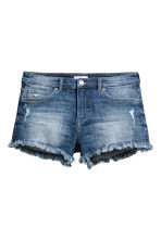 Worn denim shorts - Dark denim blue - Ladies | H&M CA 2