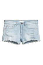 Worn denim shorts - Light denim blue - Ladies | H&M CN 2