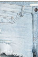 Worn denim shorts - Light denim blue - Ladies | H&M CN 4
