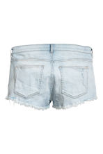 Worn denim shorts - Light denim blue - Ladies | H&M CN 3