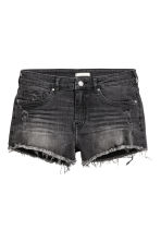 Worn denim shorts - Nearly black - Ladies | H&M 2