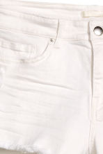Worn denim shorts - White denim - Ladies | H&M 3