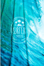 Photo-print bath towel  - Turquoise/Waves - Home All | H&M CN 2