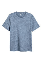 Round-neck T-shirt Regular fit - Blue marl - Men | H&M 2