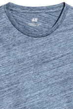 Round-neck T-shirt Regular fit - Blue marl - Men | H&M 3