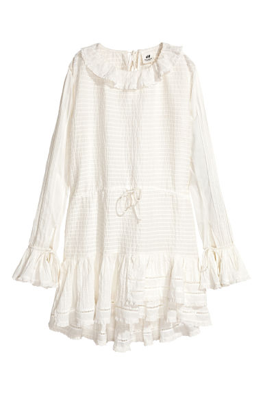 Cotton dress - White - Ladies | H&M CN 1