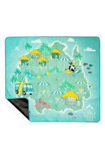 Picnic blanket - Mint/Flamingo - Home All | H&M CN 2