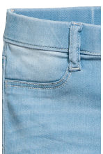 Superstretch Satin Leggings - Light denim blue -  | H&M 5