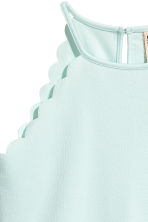 Scalloped-edge top - Mint green -  | H&M 3
