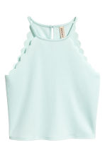 Scalloped-edge top - Mint green -  | H&M 2