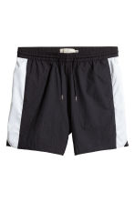 Knielange short - Zwart/wit - HEREN | H&M BE 2