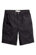 Knee-length poplin shorts - Black - Men | H&M CN 2