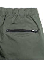 Knee-length poplin shorts - Dark khaki green - Men | H&M CN 3