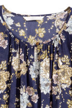 Long-sleeved blouse - Dark blue/Floral - Ladies | H&M CN 3